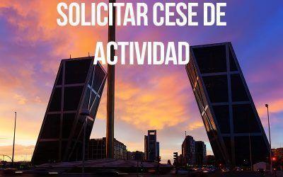 Comunidad de Madrid: Cómo pueden solicitar los autónomos el cese de actividad