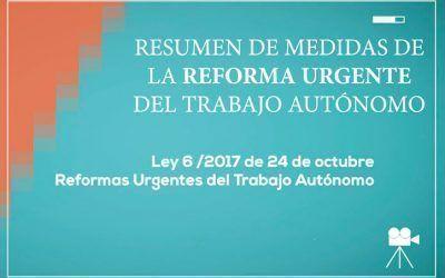 Resumen de medidas aprobadas en la Ley de Reformas Urgentes del Trabajo Autónomo